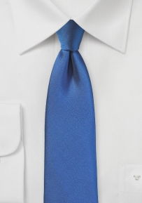 Matte Texture Skinny Tie in Nautical Blue