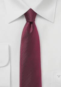 Modern Burgundy Red Skinny Tie