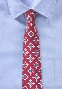 Mexico Tile Cotton Tie in Red