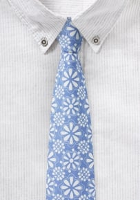 Hidalgo Print Tie in Light Blue