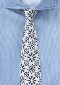 Summer Print Cotton Tie with Mexican Tile Design