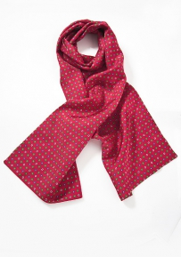 Jazzy Geometric Scarf in Reds, Blues and Greens