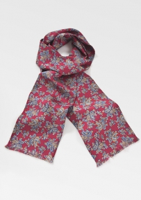 Paisley Patterned Scarf in Merlot