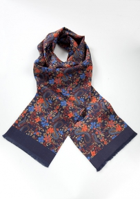 Bright Floral Silk Scarf for Men
