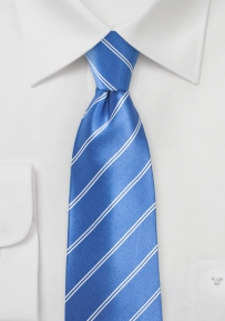 Sky-Blue Double Pinstriped Necktie