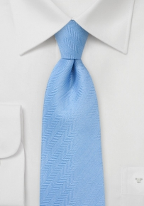 Light Blue Herringbone Necktie