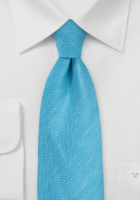 Herringbone Tie in Mosaic Blue