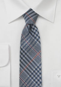 Skinny Glen Plaid Tie in Raw Silk
