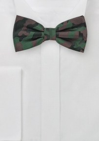 Silk Bow Tie with Camouflage Print