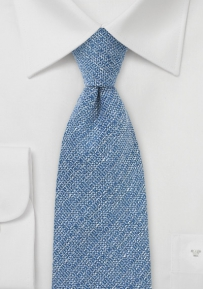 Wool Men's Tie in Blue Barleycorn