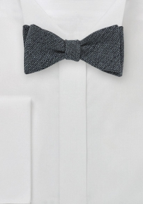 Wool Self Tie Bow Tie in Dark Midnight