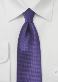 Kids Tie in Bright Violet Purple