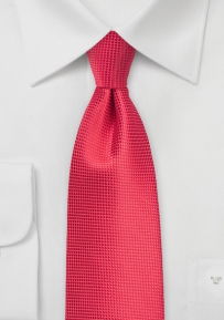 Mens XL Sized Tie in Grenadine Red