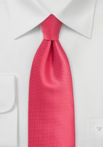 Spiced Coral Mens Tie in XL Length