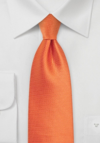 Boys Sized Tie in Carrot Orange