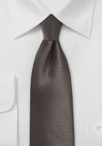 Solid Color Tie in Chestnut Brown
