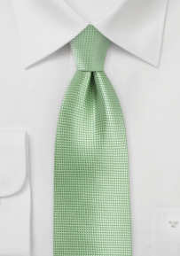 Textured Tie in Laurel Green in XL