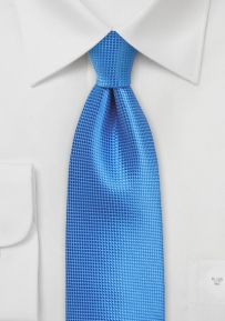 Extra Long Mens Tie in French Blue