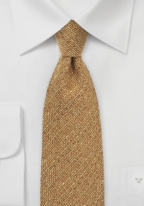 Golden Mustard Hued Autumn Tie