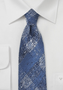 Colony Blue and Silver Plaid Tie