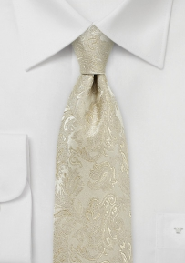 Elegant Silk Tie in Golden Champagne