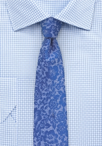 Modern Silk Lace Designer Tie in Blue