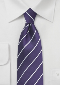 Silk Tie in Grape Purple
