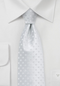 Bright White Polka Dot Tie