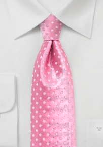 Confetti Pink Tie with Pink Polka Dots