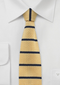 Pale Summer Yellow Silk Knit Tie