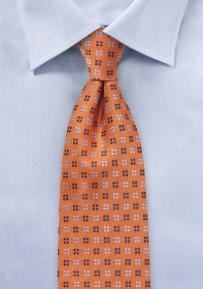 Woven Silk Tie in Harvest Pumpkin