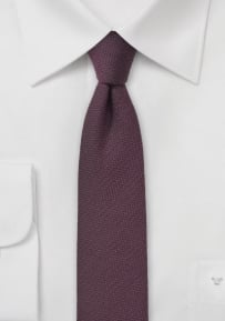 Zinfandel Red Wool Tie in Skinny Cut