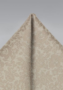 Floral Lace Pocket Square in Champagne