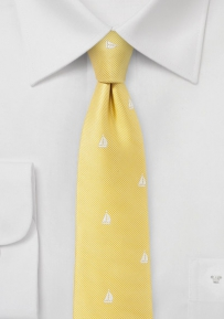 Yachting Silk Tie in Yellow
