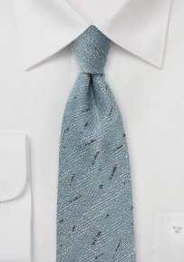 Light Blue and Brown Herringbone Tie