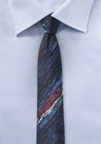 Charcoal and Black Super Skinny Tie