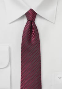Modern Skinny Tie in Cherry Red