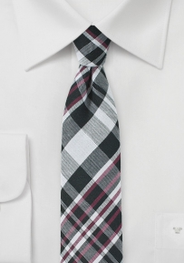 Modern Plaid Tie in Cotton