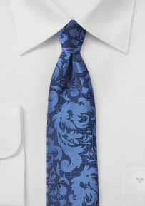 Tapestry Paisley Designer Tie in Bright Blue