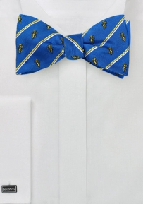 Alpha Epsilon Pi Self Tied Bow Tie in Pure Silk