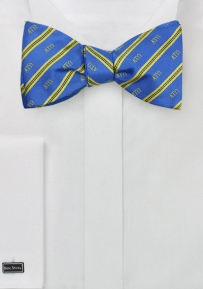 Mens Silk Bow Tie for Alpha Tau Omega
