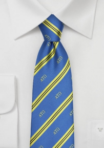 Alpha Tau Omega Striped Silk Tie
