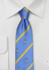 Repp Stripe Skinny Tie for Alpha Tau Omega