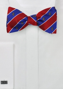 Beta Theta Pi Striped Bow Tie in Pure Silk