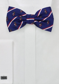 Crested Striped Bow Tie for Beta Theta Pi