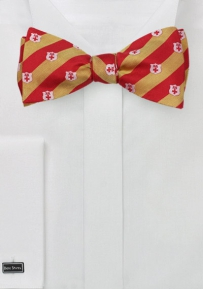 Kappa Alpha Striped Silk Bowtie