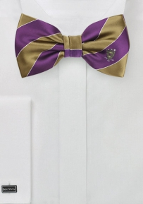 Sigma Alpha Mu Bow Tie in Purple and Gold