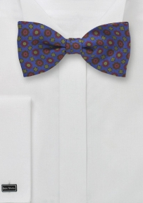 Retro Styled Tie in Blue