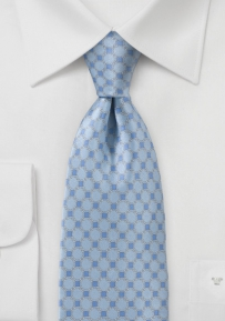 Art Deco Tie in French Blues