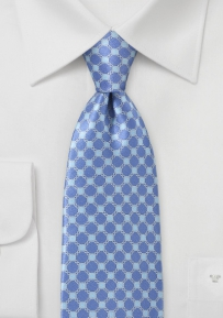 Graphic Art Deco Tie in Blues